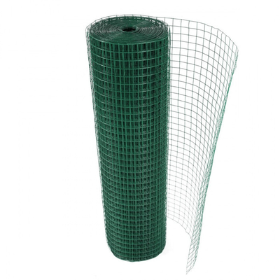 PVC Coated After Coated Green Welded Steel Wire Fabric Roll Galvanized 1/2 X 1/2 X 1.5mm